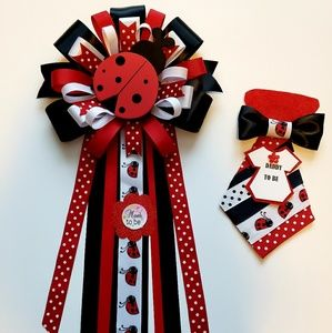 Accessories - Ladybug baby shower corsage